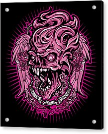 Dcla Cold Dead Hand Zombie Pink 2 Acrylic Print by David Cook Los Angeles