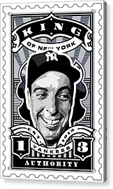Dcla Joe Dimaggio Kings Of New York Stamp Artwork Acrylic Print by David Cook Los Angeles