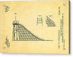 De Bodisco Artificial Sliding Hill Patent Art 1869 Acrylic Print by Ian Monk