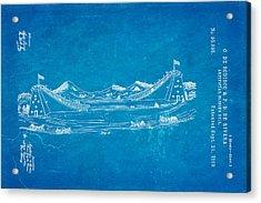 De Bodisco Artificial Sliding Hill Patent Art 2 1869 Blueprint Acrylic Print by Ian Monk