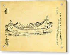 De Bodisco Artificial Sliding Hill Patent Art 2 1869 Acrylic Print by Ian Monk
