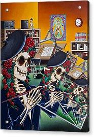 Dead Artist Society Acrylic Print by Gary Kroman