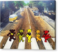 Dead On Abbey Road Acrylic Print by Jen Santa
