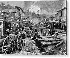Deadwood South Dakota C. 1876 Acrylic Print by Daniel Hagerman