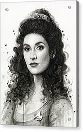 Deanna Troi - Star Trek Fan Art Acrylic Print by Olga Shvartsur