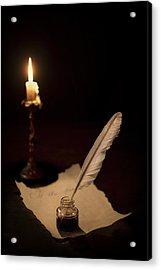 Dear Diary... Acrylic Print by Evelina Kremsdorf