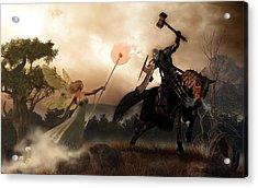 Death Knight And Fairy Queen Acrylic Print by Daniel Eskridge
