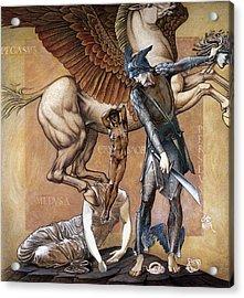Death Of Medusa Acrylic Print by Edward Burne Jones
