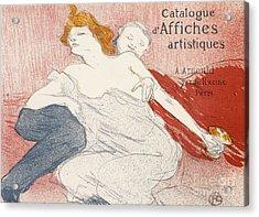 Debauche Deuxieme Planche Acrylic Print by Henri de Toulouse-Lautrec