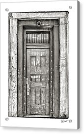 Decaying Beauty In Black And White Acrylic Print by Brenda Bryant
