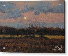 December Moon Acrylic Print by Gregory Arnett