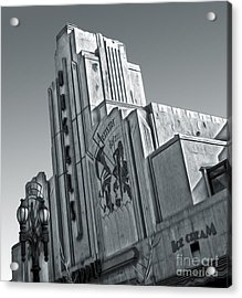 Deco Building In Black And White Acrylic Print by Gregory Dyer
