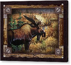 Deco Moose Acrylic Print by JQ Licensing