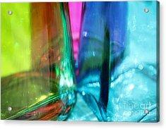 Decorative Bottles IIi Acrylic Print by Krissy Katsimbras