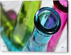 Decorative Bottles Iv Acrylic Print by Krissy Katsimbras