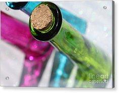 Decorative Bottles Acrylic Print by Krissy Katsimbras