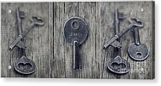 decorative vintage keys I Acrylic Print by Priska Wettstein