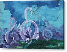 Deep Ellum Means Music Acrylic Print by Lorri Crossno