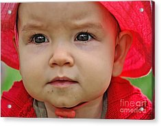 Deep In Thought Acrylic Print by Kaye Menner