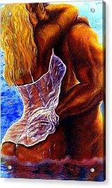 Deep Love Acrylic Print by Sharon -
