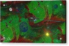 Deep Space / Star Trek Acrylic Print by Michael Rucker