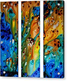 Deep Visions - Abstract Modern Contemporary Art Painting Acrylic Print by Sharon Cummings
