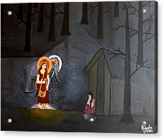 Deepavali Night Acrylic Print by Pratyasha Nithin