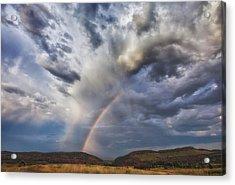 Deer Creek Storm Acrylic Print by Darren  White