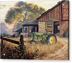Deere Country Acrylic Print by Michael Humphries