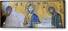 Deesis Mosaic -- Hagia Sophia Acrylic Print by Stephen Stookey