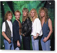 Def Leppard - 15 Months Of Rock 1987 Acrylic Print by Epic Rights