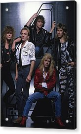 Def Leppard - Group Stairs 1987 Acrylic Print by Epic Rights