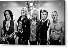 Def Leppard - Mirrorball Tour 2011 B&w Acrylic Print by Epic Rights