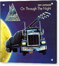 Def Leppard - On Through The Night 1980 Acrylic Print by Epic Rights