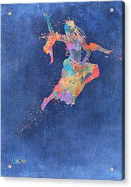 Defy Gravity Dancers Leap Acrylic Print by Nikki Marie Smith