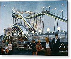 Del Mar Fair At Night Acrylic Print by Mary Helmreich