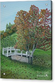 Delfosse Bridge Acrylic Print by Gloria Patrick Sumter