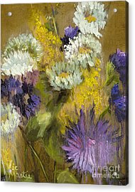 Delicate Aroma I -unframed-with Gold Leaf By Vic Mastis Acrylic Print by Vic  Mastis