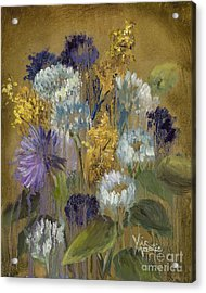 Delicate Aroma II -unfarmed-with Gold Leaf By Vic Mastis Acrylic Print by Vic  Mastis