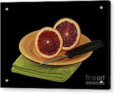 Delicious Juicy Blood Oranges Acrylic Print by Inspired Nature Photography Fine Art Photography
