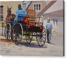 Delivering The Chair Acrylic Print by Todd Baxter