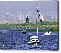 Delta Loop Fishing Acrylic Print by Joseph Coulombe