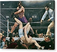 Dempsey V Firpo In New York City Acrylic Print by George Wesley Bellows