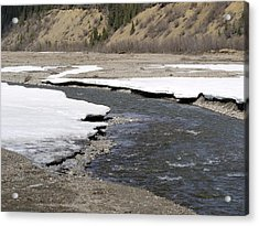 Denali Area River  Acrylic Print by Tara Lynn