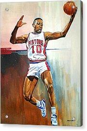Dennis Rodman Bad Boy Pistons Acrylic Print by Michael  Pattison