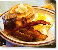 Denny's Grand Slam Breakfast - Painterly Acrylic Print by Wingsdomain Art and Photography