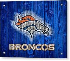 Denver Broncos Barn Door Acrylic Print by Dan Sproul