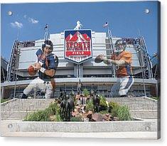 Denver Broncos Sports Authority Field Acrylic Print by Joe Hamilton