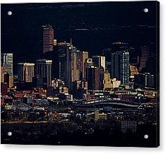Denver Digital Art Acrylic Print by Ernie Echols
