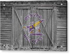 Denver Rockets Acrylic Print by Joe Hamilton